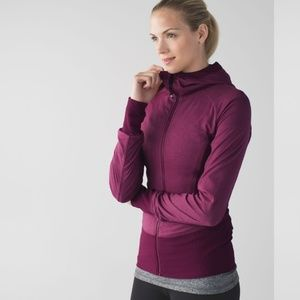 Lululemon Womens In Flux Burgundy Purple Jacket 2